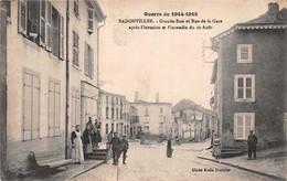 (54) Badonviller - Grande Rue Et Rue De La Gare Après L'invasion Et L'incendie Du 12 Août - Guerre 1914 1918 - Autres Communes
