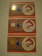 3 Chip Phonecards From Indonesia - Logo - Indonesia