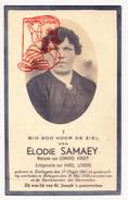 DP Foto Elodie Samaey ° Zerkegem Jabbeke 1881 † Bekegem Ichtegem 1938 X E. Kyndt Xx K. Logghe - Devotion Images