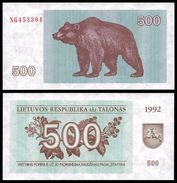 Lithuania 500 TALONAS 1992 P 44 UNC (Lituanie,Litauen,Litauen) - Lithuania
