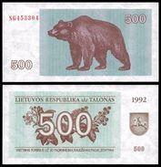 Lithuania 500 TALONAS 1992 P 44 UNC (Lituanie,Litauen,Litauen) - Litouwen