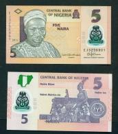 NIGERIA  -  2016  5 Naira  Polymer  UNC Banknote - Nigeria