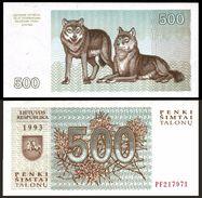 Lithuania 500 TALONU 1993 P 46 UNC (Lituanie,Litauen,Litauen) - Lithuania