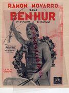 75- PARIS- PROGRAMME CINEMA APOLLO- BEN HUR-RAMON NOVARRO-BETTY BRONSON-CARMEL MYERS--FRED NIBLO- - Programs