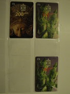 3 Chip Phonecards From Indonesia - Statues - Indonesia