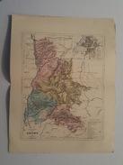 Carte Du XIX ème - Département De La Drome Par Malte Brun - Gravé Par Erhard - Rouff éditeur - Cartes Géographiques