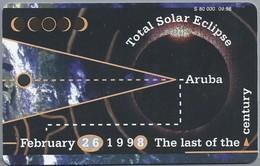 Telefoonkaart. Setarnet. The Last Of The Century. Total Solar Eclipse . Aruba - February 26, 1998. 60 Units. 2 Scans - Aruba