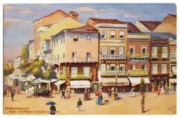 PERNAMBUCO - Rua 1º De Março E Duque De Caxias (Ed. R.M.S.P. And P.S.N.C. Series Nº 4) Carte Postale - Recife