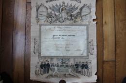 Diplome   Brevet De Prevot D'Escrime  Joinville Le Pont 1898 - Diplomi E Pagelle