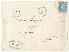 LETTRE Avec N° 60 ; 11 G1  ;4 ème état  TTB - 1871-1875 Cérès