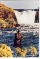 ISLAND FISHING IN LAXÁ Í AÖALDAL MOST BEAUTIFUL RIVER USED 2 X NICE STAMP EUROPA CEPT 1985 - Islande