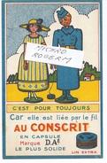 """CARTE Postale Publicitaire - Ets D.A.E. - Fabrique De Fils En LIN """"Au CONSCRIT""""  - 511217 - Bagne & Bagnards"""