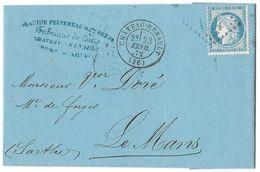 LETTRE Avec N° 60 ; 65 G1  1er état  Cachet Au Verso : 2188  TTB - 1871-1875 Cérès