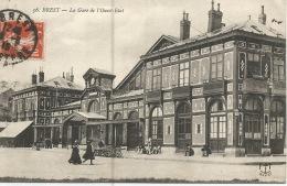 29  BREST  La GARE De L'Ouest Etat  1915 - Brest
