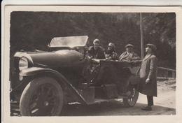 AUTO CAR VOITURE FIAT 501 GRUPPO DI PERSONE - PICCOLA FOTO ORIGINALE 1926 - Cars