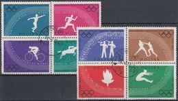 POLONIA 1960 Nº 1031/38 USADO EN DOS BLOQUES - 1944-.... República