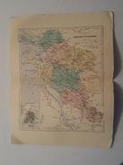 Carte Du XIX ème - Département De La Charente Inférieure Par Malte Brun - Gravé Par Erhard - Rouff éditeur - Cartes Géographiques