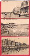 Ostende --  Lot De 3 Cartes - Oostende
