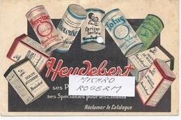 CARTE Postale Publicitaire - HEUDEBERT à NANTERRE Et à LYON 4 Chemin Feuillat - Produits De Régime  - 531217 - Bagne & Bagnards