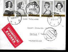 BELGIQUE Lettre  1962 - Case Reali
