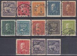 SUECIA 1924 Nº195/204 + 195a/96a + 195b USADO - Sweden