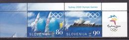 2000, Slowenien, Slovenia, Mi. 308/09, MNH **,  Olympische Sommerspiele, Sydney. - Slovenia