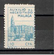 Spain1937: MALAGA 10cts.mnh** - Emisiones Nacionalistas