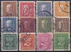 SUECIA 1929/36 Nº 211/22 USADO - Sweden