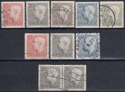 SUECIA 1957 Nº 419/23 + 419a/22a + 420b USADO - Sweden