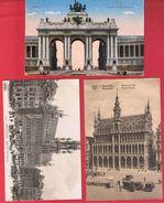 Bruxelles --  Lot De 3 Cartes - België