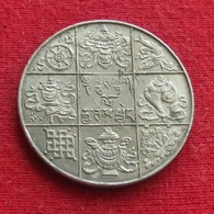 Bhutan 1/2 Rupee 1950 Km# 28 - Bhoutan
