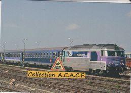 BB 67416 Et Train De Nuit Pour Paris-Austerlitz, à Rodez (12)  - - Eisenbahnen