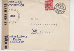 Zensurbrief Aus Fulda 29.2.46?? - Zona AAS