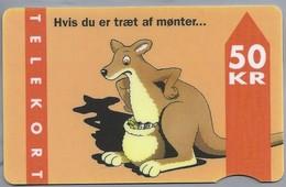 DK.- Telefoonkaart. Telekort. TELEDANMARK. Hvis Du Er Traet Af Monter... 50 KR. 2 Scans - Denemarken