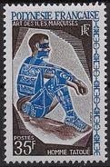 1968 Polynésie Française  N° 58 Nf** . MNH ..Arts Des Iles Marquises . Homme Tatoué . - Neufs