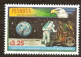 Penrhyn 1994 Yvertn° 412 *** MNH Cote 10 Euro L' Espace 1ier Homme Sur La Lune - Penrhyn