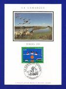 Frankreich  1999  Mi.Nr. 3382 , EUROPA CEPT - Natur-und Nationalparks - Maximum Karte - Strasbourg 24.04.1999 - 1999