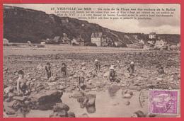 CPA-14-VIERVILLE - Plage- Rochers De La Balise - Animation -TBE ** 2 SCANS - Autres Communes
