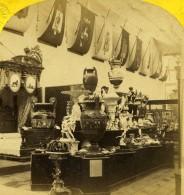 France Paris Expo Universelle Galerie Du Mobilier Suedois Ancienne Photo Stereo Leon & Levy 1867 - Stereoscopic