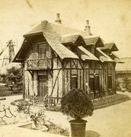 France Paris Expo Universelle Pavillon Rustique Fers Jacquemin Ancienne Photo Stereo 1878 - Stereoscopic