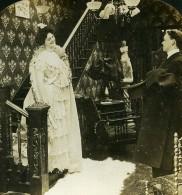 USA Scene De Genre Avant Le Bal Before The Ball Ancienne Photo Stereo HC White 1902 - Stereoscopic