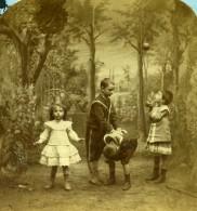 France Scene De Genre La Récréation Scenes Enfantines Ancienne Photo Stereo Block 1870 - Stereoscopic