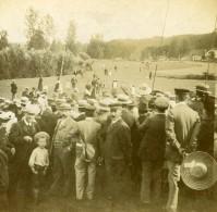 France Le Champ De Courses ? Ancienne Photo Stereo Amateur 1900 - Stereoscopic