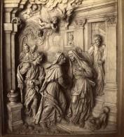 Venezia Venise Basilica Dei Santi Giovanni E Paolo Sculptures Ancienne Photo Stereo Naya 1870 - Stereoscopic
