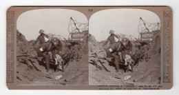 WWI Passchendaele Soldat Blesse Ancienne Photo Stereo Realistic Travels 1914-1918 - Stereoscopic
