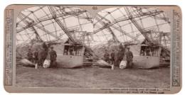WWI Essex Zeppelin Gondola Abattu Ancienne Photo Stereo Realistic Travels 1916 - Stereoscopic