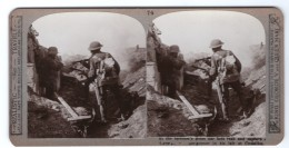 WWI Capture D'un Mitrailleur Allemand Ancienne Photo Stereo Realistic Travels 1917 - Stereoscopic