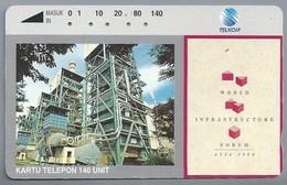 ID.- Telefoonkaart. TELKOM. Kartu Telepon 140 Unit. Indonesië. WORLD INFRASTRUCTURE FORUM ASIA 1994.  2 Scans - Indonesia
