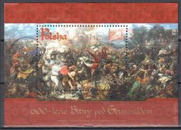 Poland 2010 - 600 Years Of Grunwald Battle - Mi.4488 From M/s 195 - Used - Gestempelt - Blocs & Feuillets