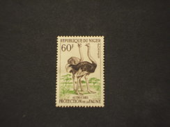 NIGER - 1959/62 FAUNA  60 F. - NUOVO(+) - Niger (1960-...)